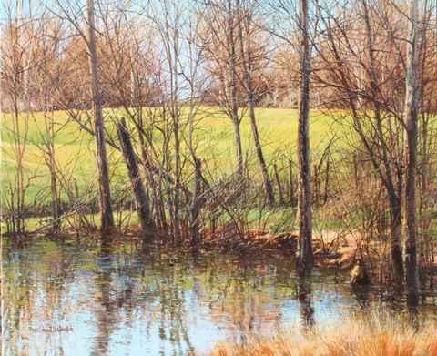 March Pasture - Pond'... by  Michael Wheeler - Masterpiece Online
