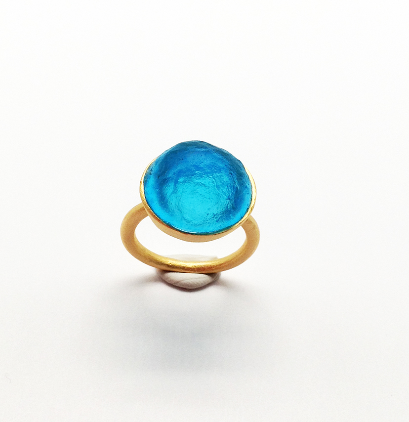 Sol-Single Stone Ring in Turquoise Size 8