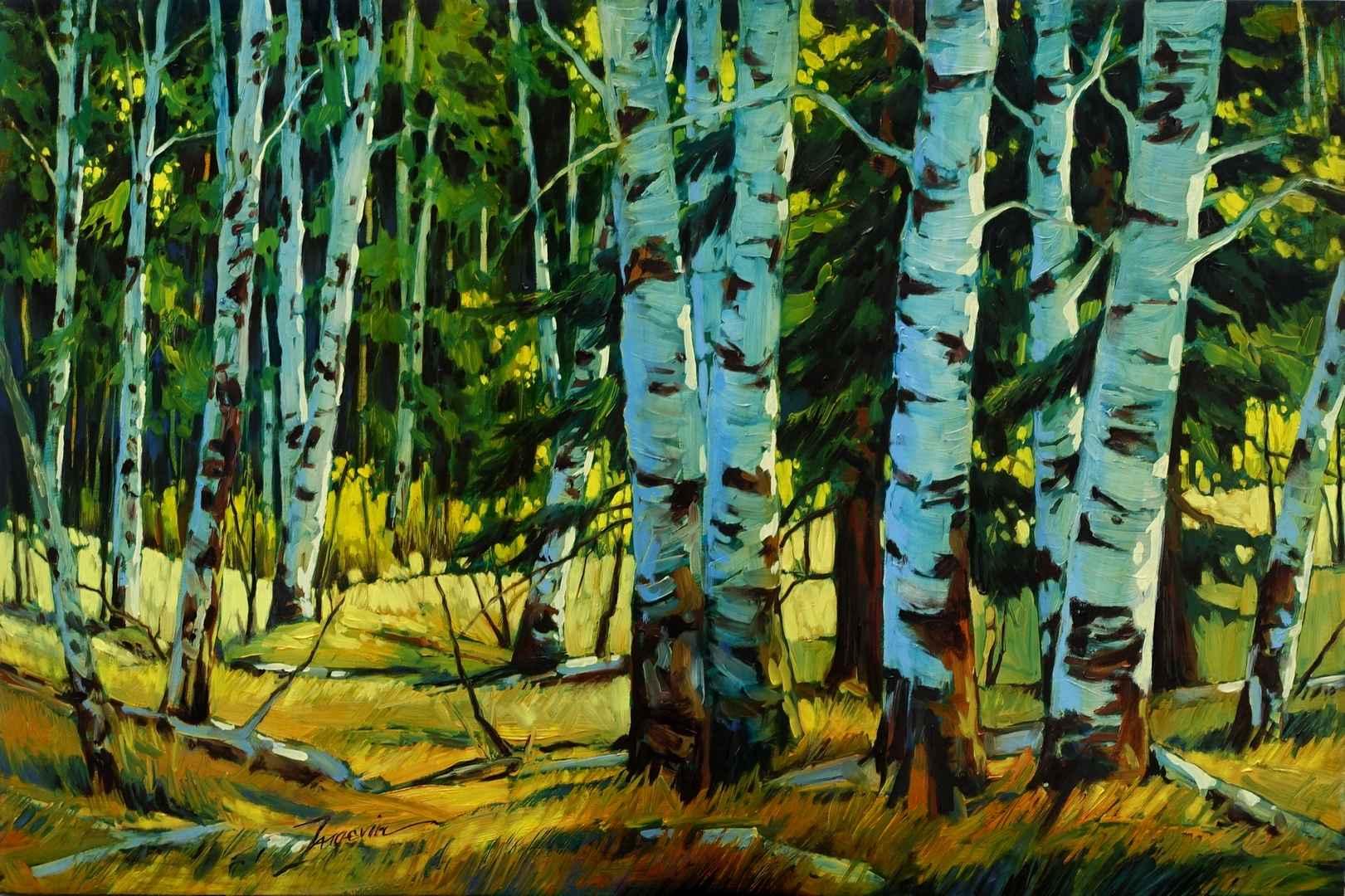 Aspens in the Way by  David Langevin - Masterpiece Online