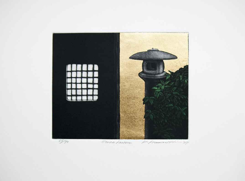 Stone Lantern  by  Katsunori Hamanishi