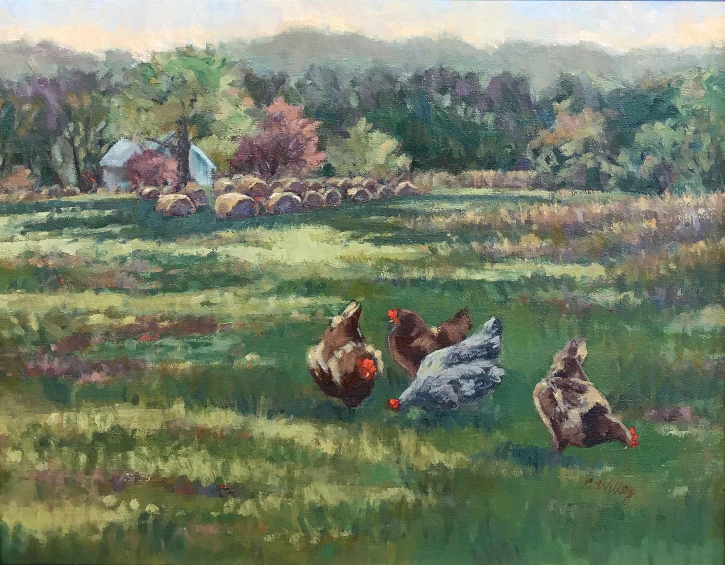 Darlene's Chickens by  Chris Willey - Masterpiece Online