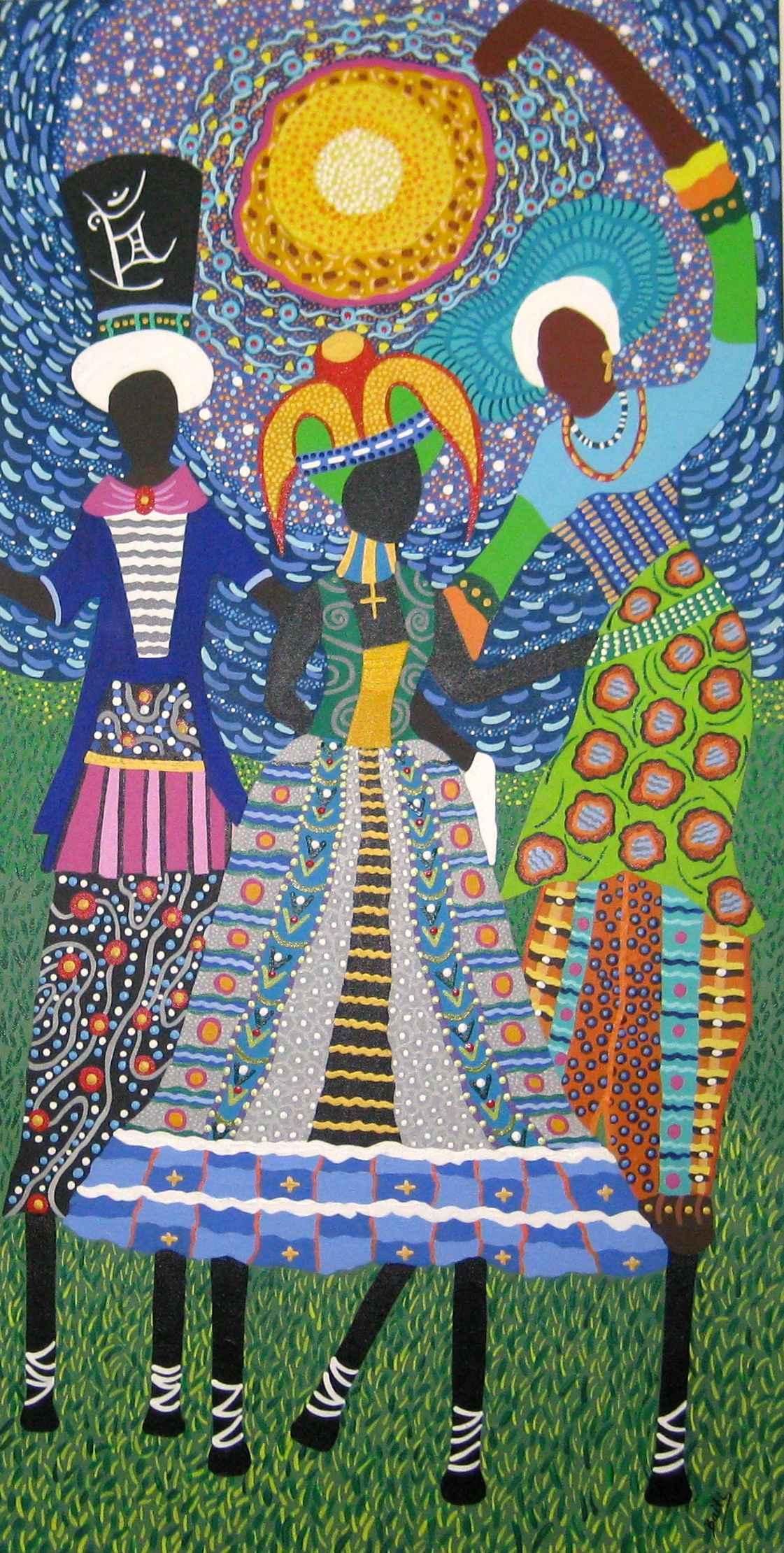 Carnival Moko Jumbies... by Ms Janice Elizabeth Stewart - Masterpiece Online