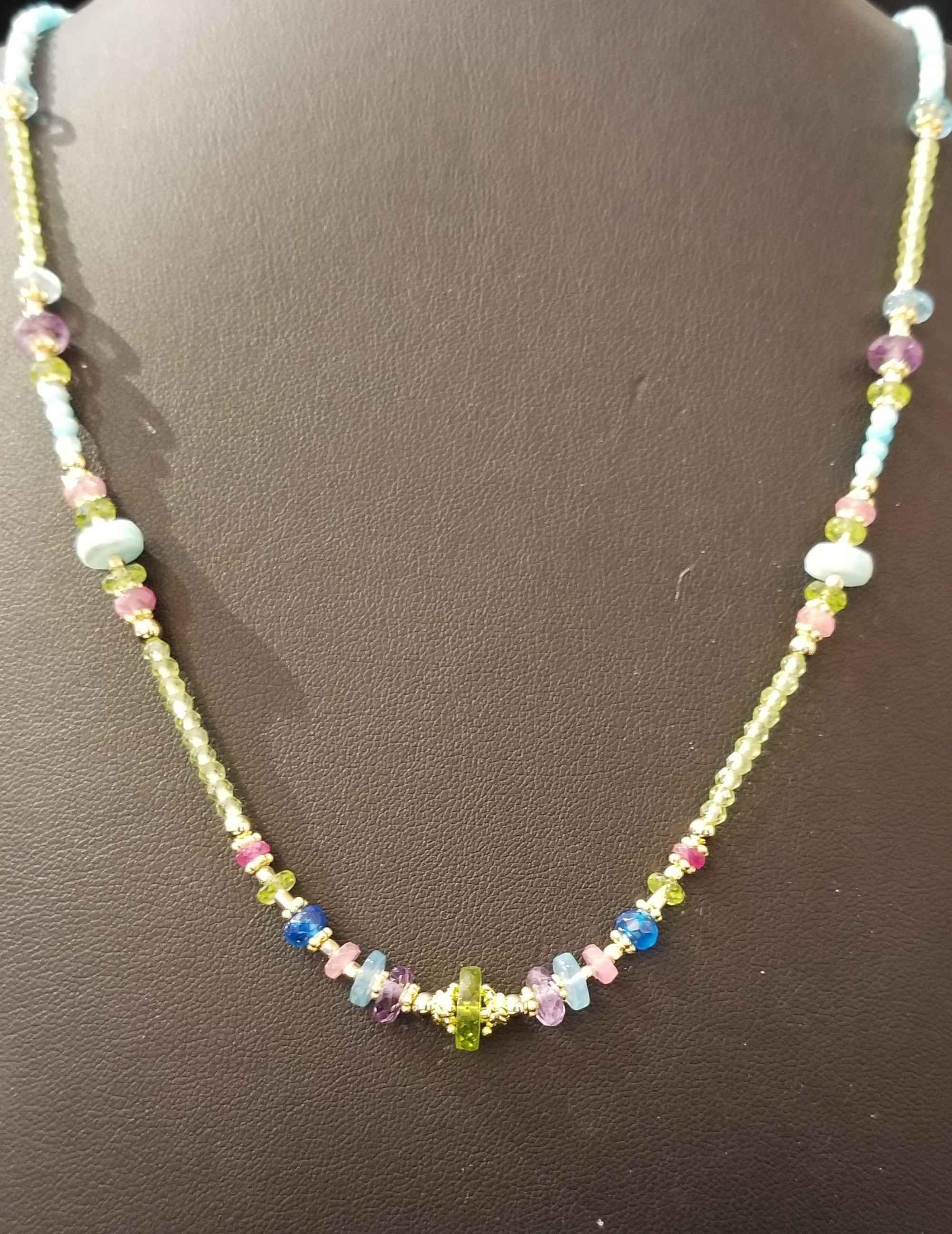 Multi Gemstone GF Nec... by  Paula Nurse - Masterpiece Online