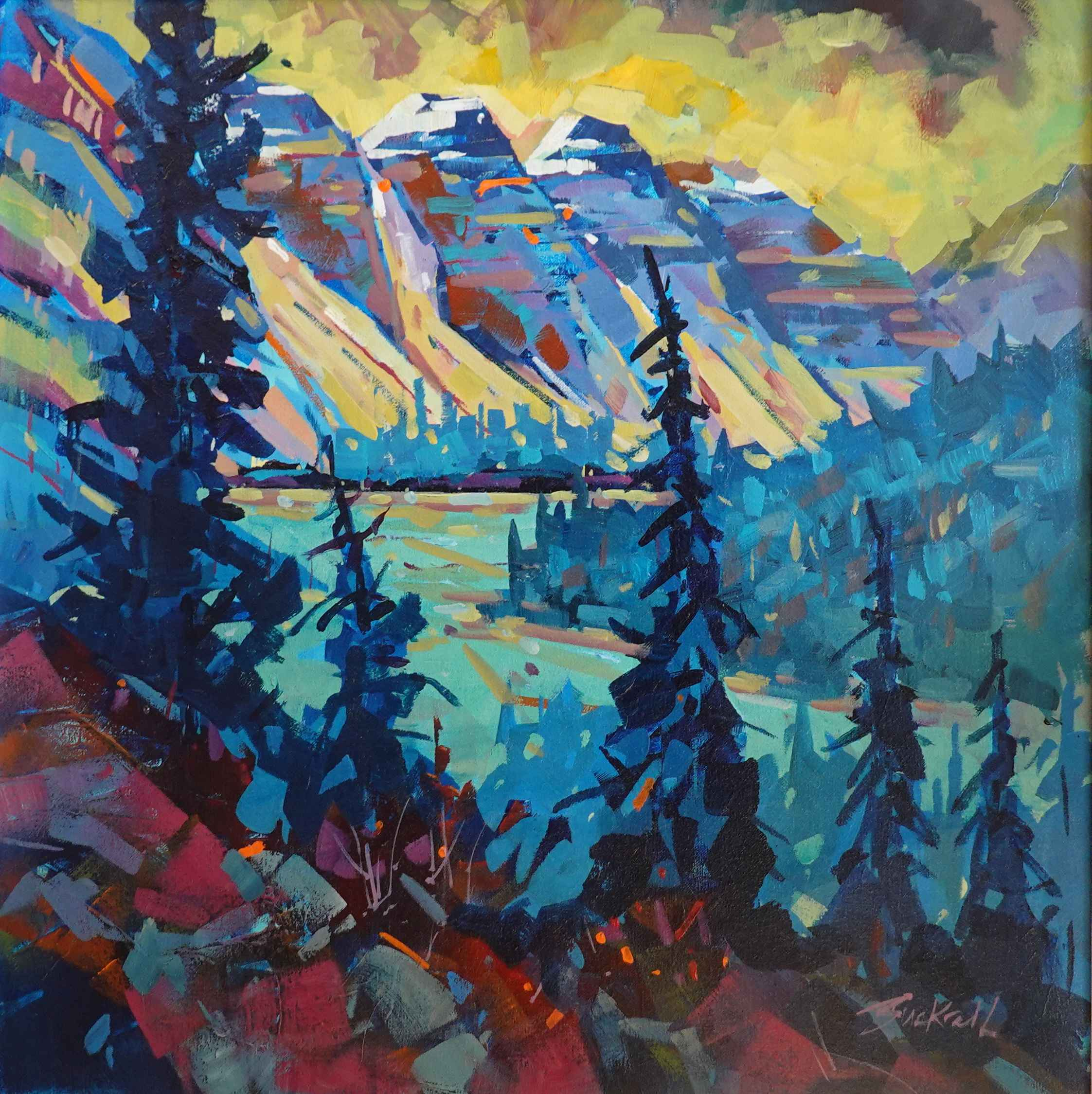 Abstracting Maligne by  Brian Buckrell - Masterpiece Online