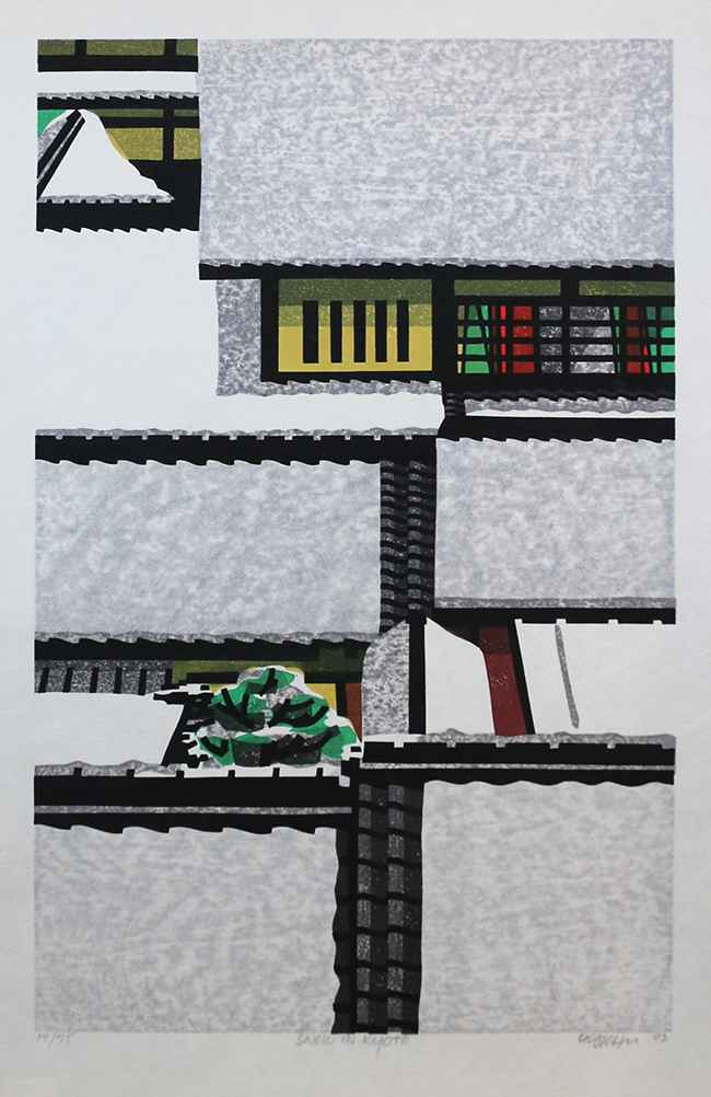 Snow in Kyoto by  Clifton Karhu - Masterpiece Online