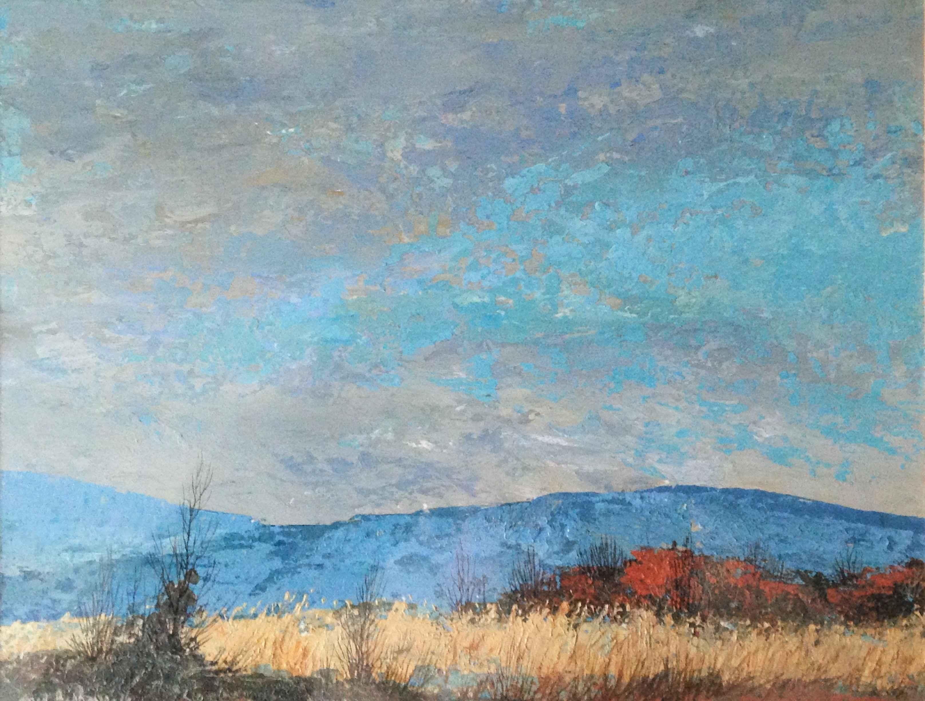 Blue Landscape by Mr. Mel Kishner - Masterpiece Online