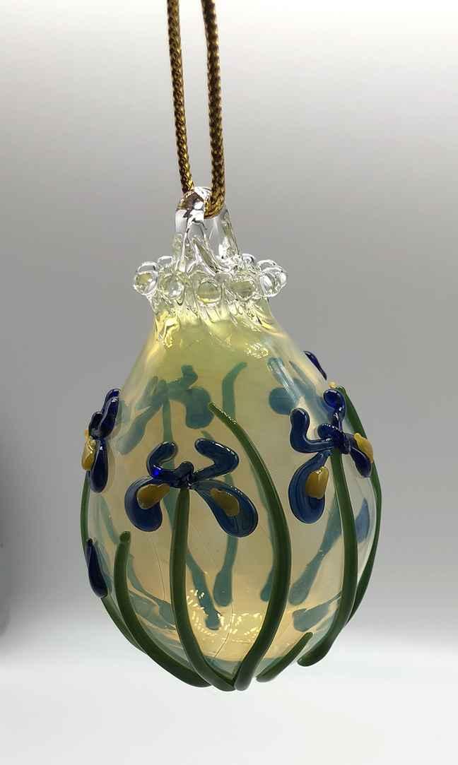 Blue Iris Ornament