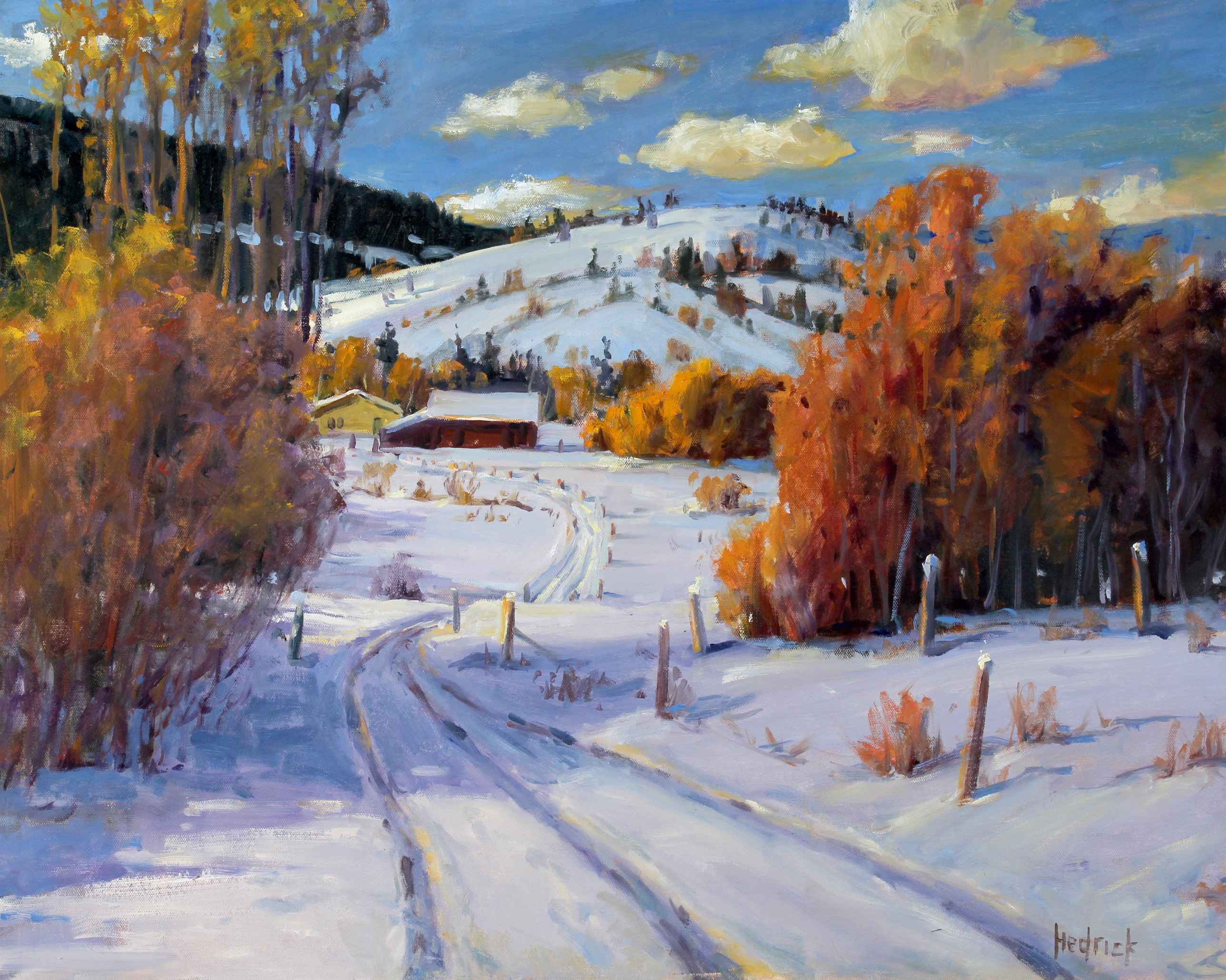 Winter Farm  by  Ron Hedrick