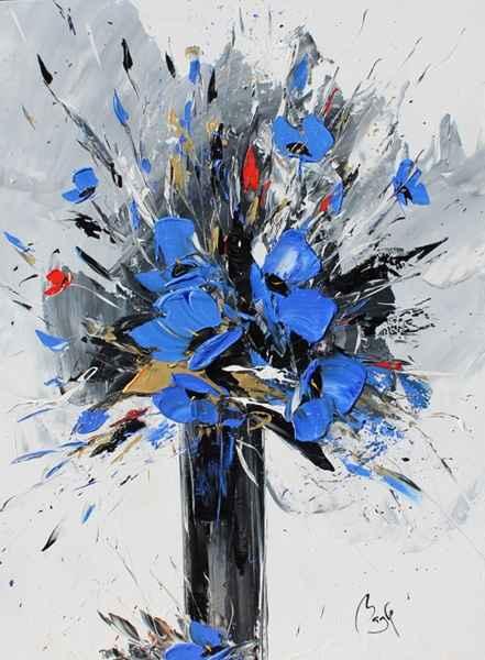 Blue Poppy Bouquet