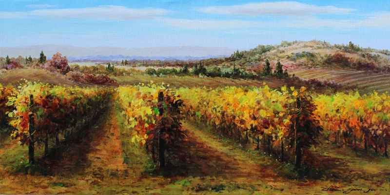 Vineyard Country by  Soon Ju Choi  - Masterpiece Online