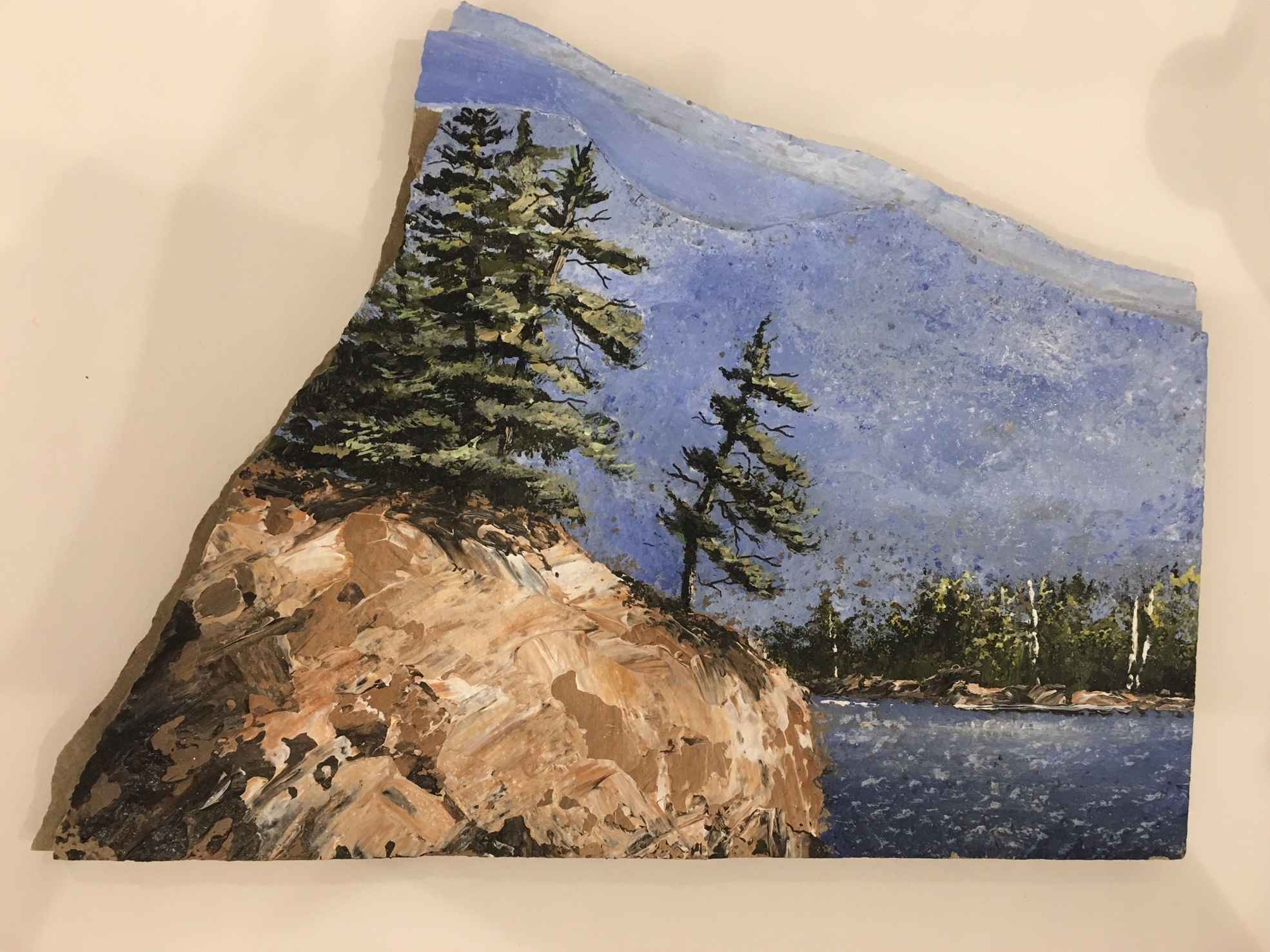 Painting On Slate Ser... by  Janet Liesemer - Masterpiece Online