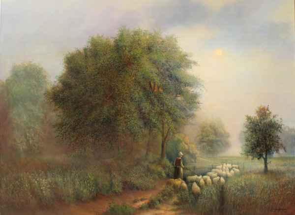 The Shepherdess by  Roger  Budney - Masterpiece Online