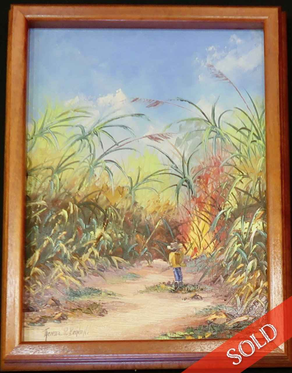 Burning Cane by  Theresia Brinson (b.1926) - Masterpiece Online