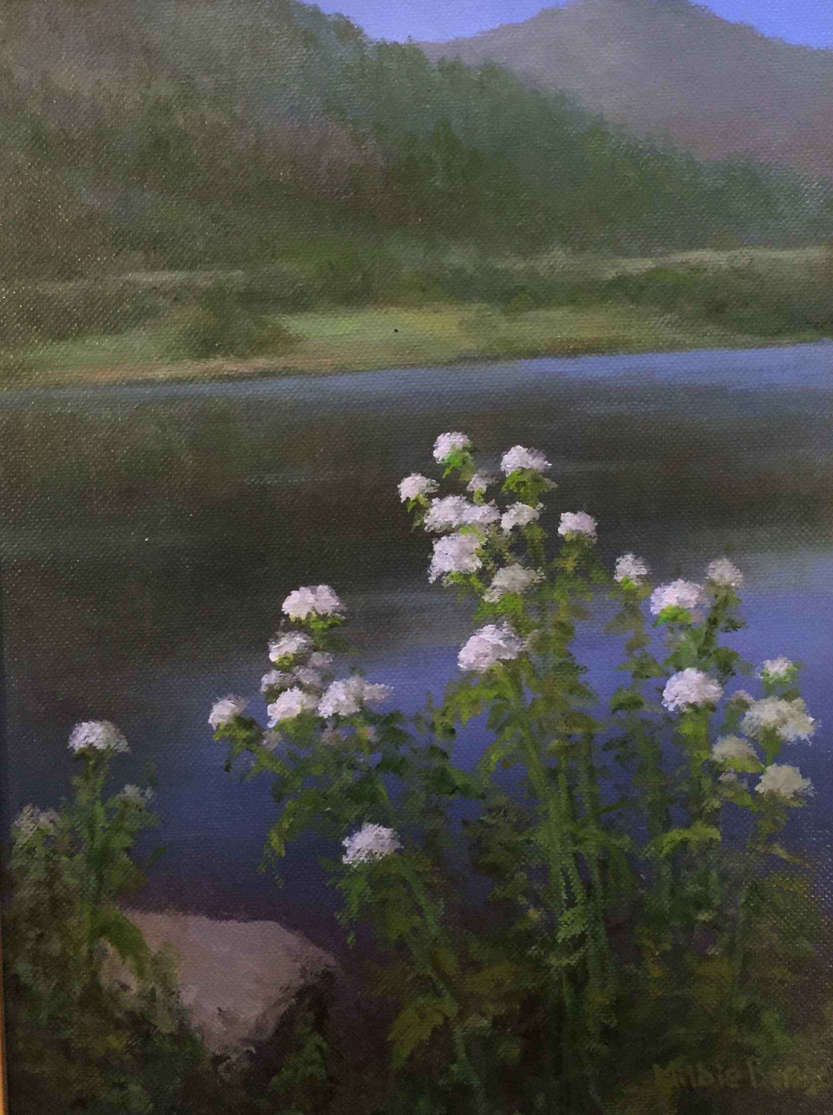 White Flowers at the ... by Mrs Milbie Benge - Masterpiece Online