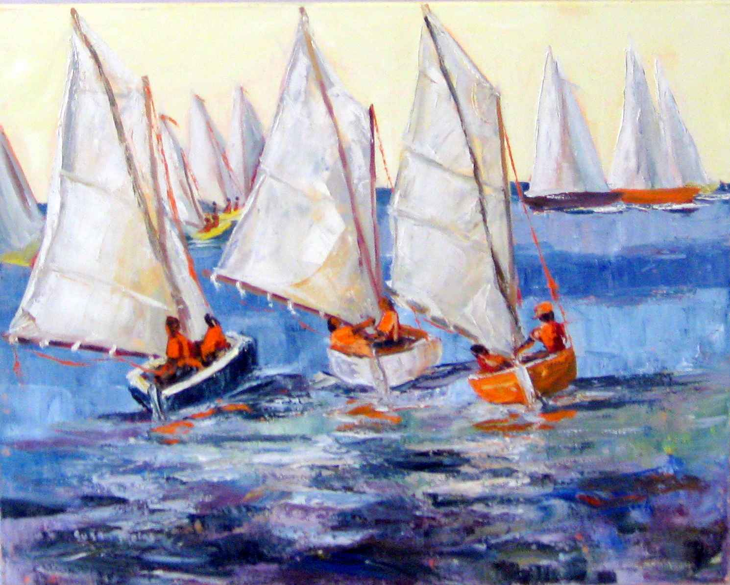 Sailing In Yellow Ski... by Mrs. Susan Mains - Masterpiece Online
