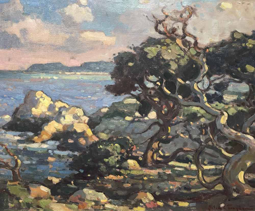 Cypress Trees - Point... by  John C Traynor - Masterpiece Online