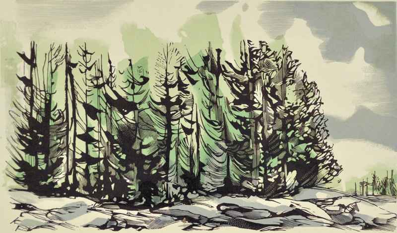 Sunset, Maine (c. 196... by  Bernard Brussel-Smith (1914-1989) - Masterpiece Online