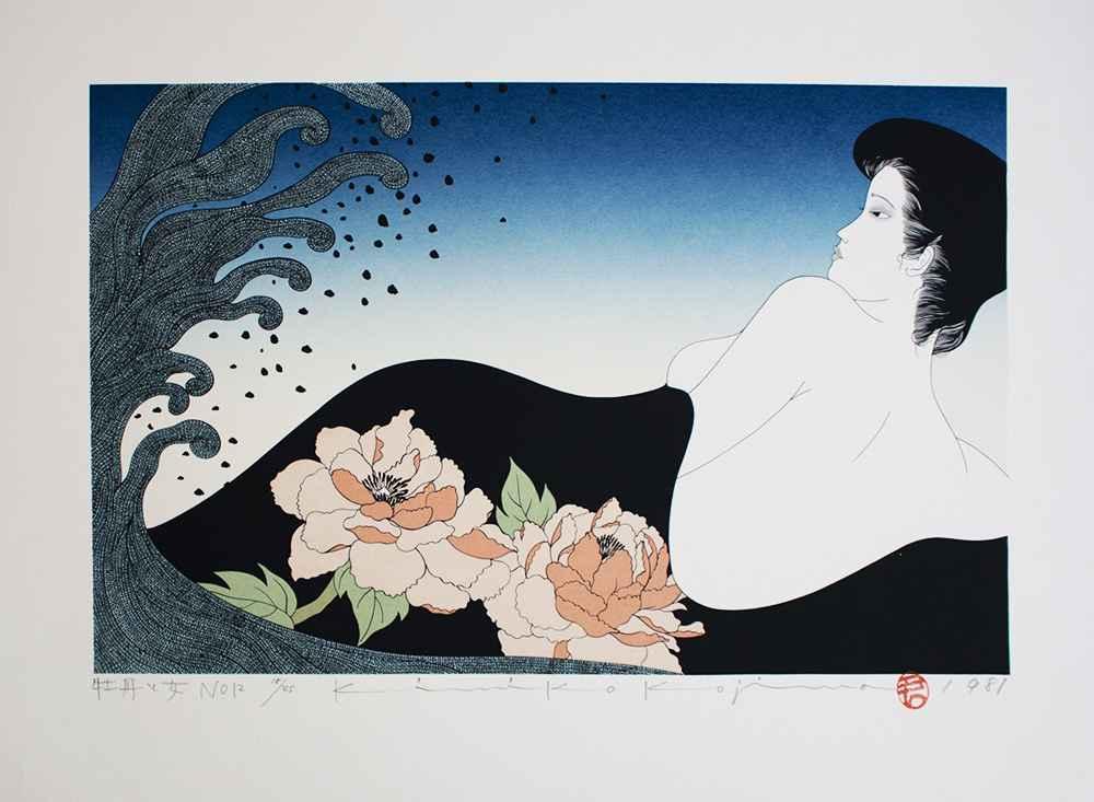 Peony and Woman No.12 by  Kimiko Kojima - Masterpiece Online