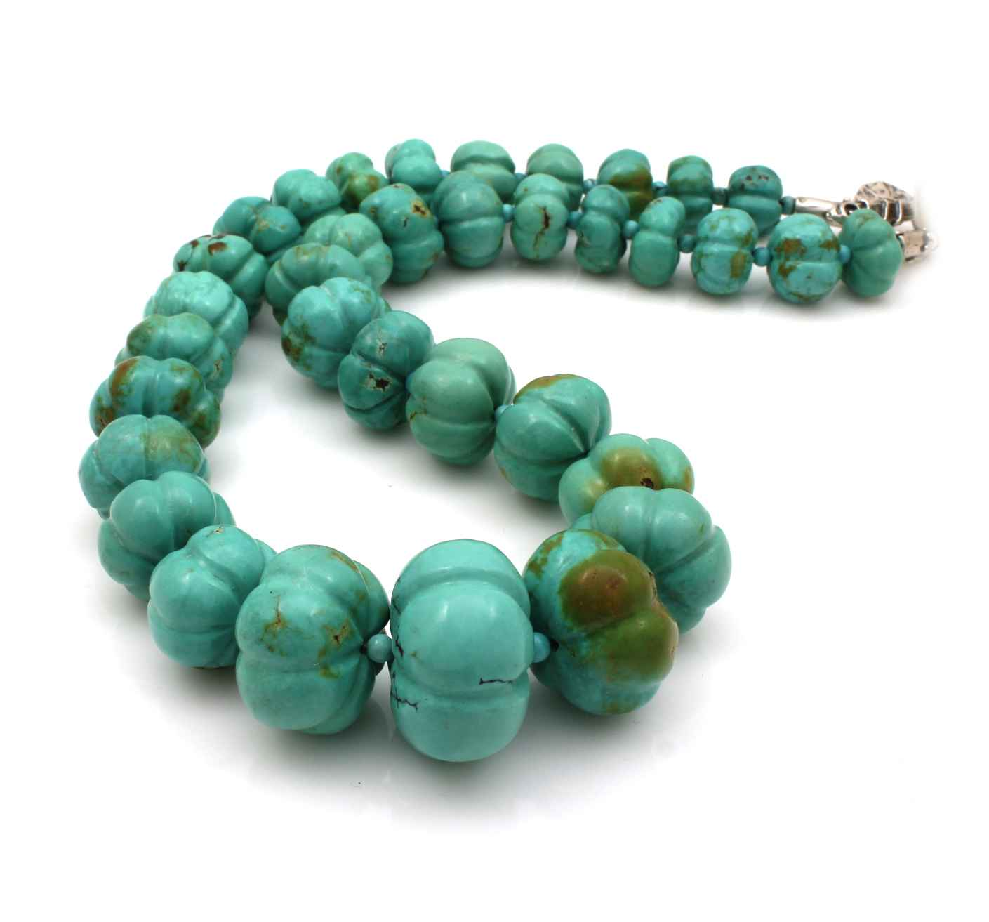 Carved Turquoise Melo... by  Pam Springall - Masterpiece Online