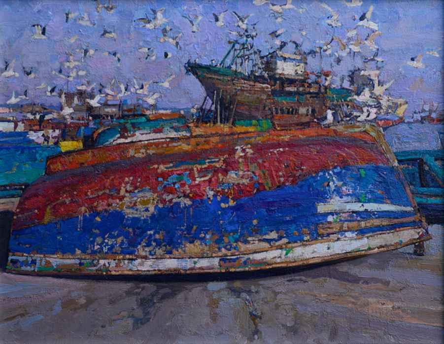 Shipyard by  Daud Akhriev - Masterpiece Online