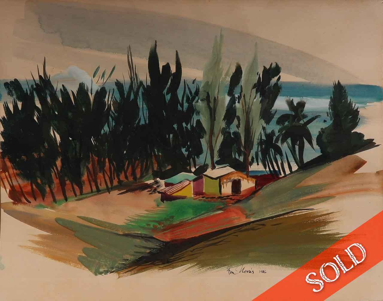 Beach Houses with Iro... by  Robert Benjamin Norris (1910-2006) - Masterpiece Online
