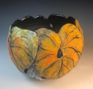 Gold Leaf Candle Bowl