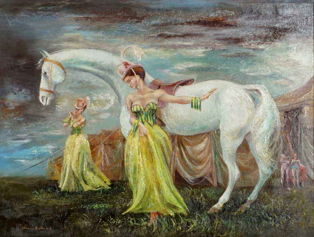 Circus: Two Ladies wi... by Mr. Aaron Bohrod - Masterpiece Online