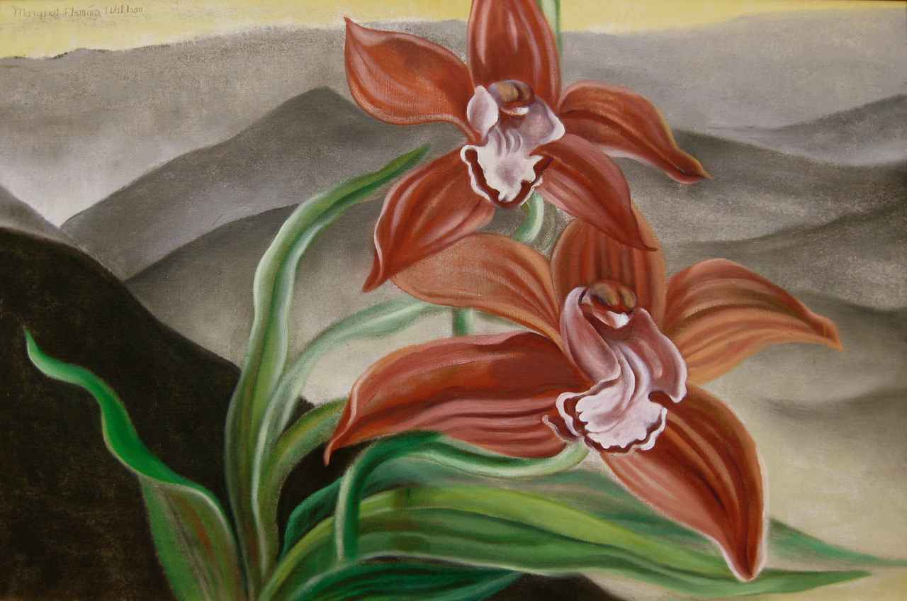Wine Orchids by  Margaret Fleming Waldron (1910-1992) - Masterpiece Online
