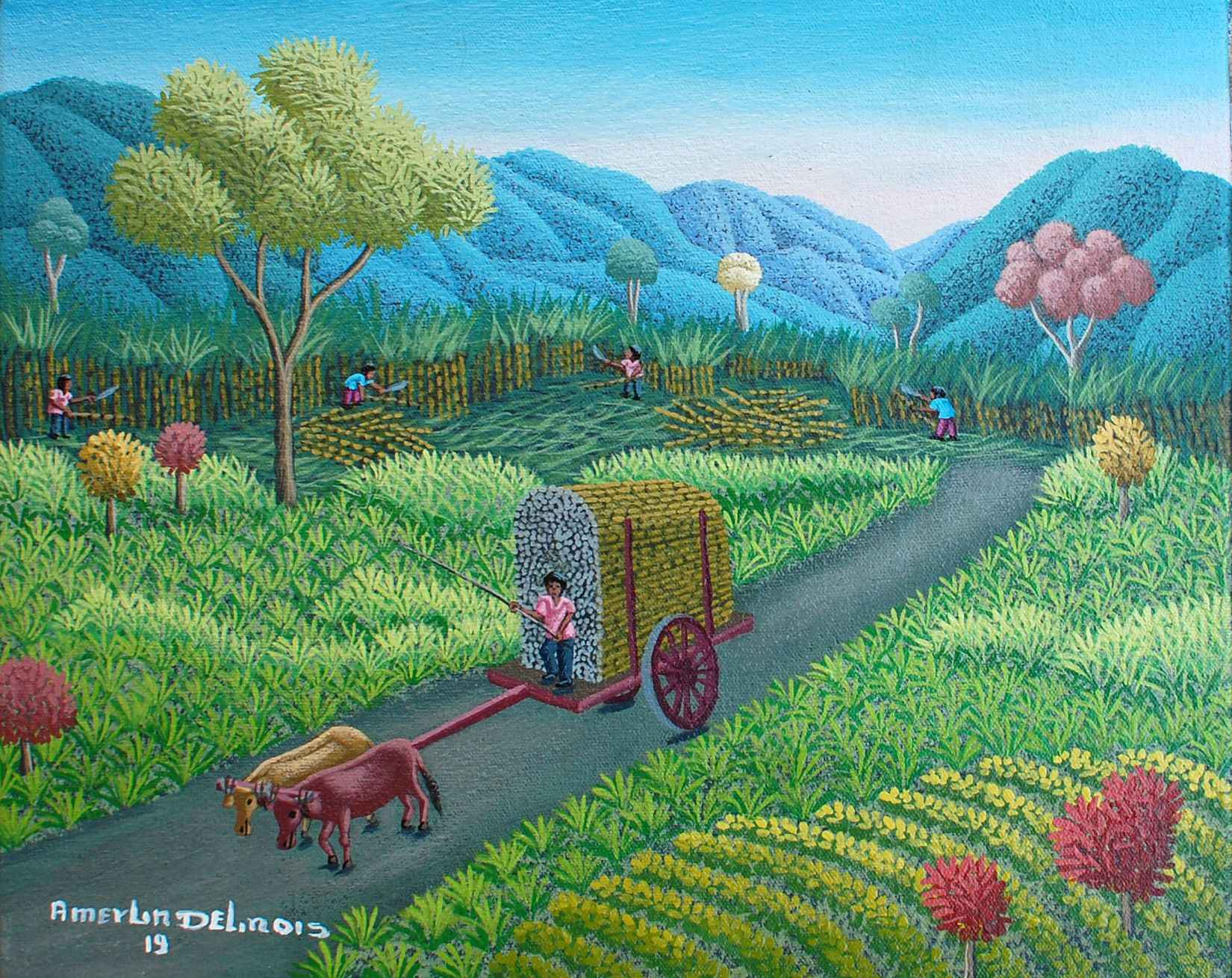 Sugar Cane Harvest by  Amerlin DELINOIS - Masterpiece Online