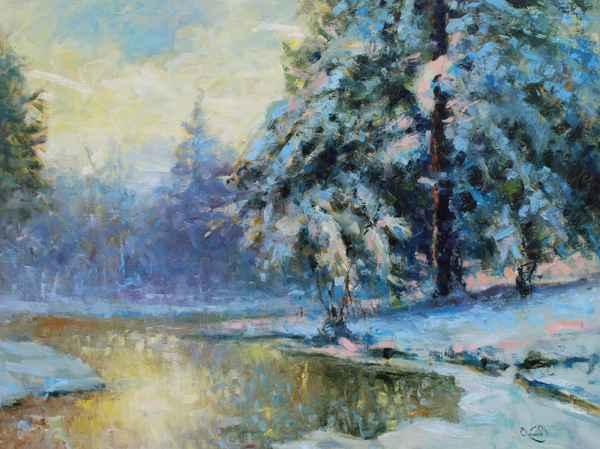 Winter Forest by  Vladimir  Nasonov  - Masterpiece Online