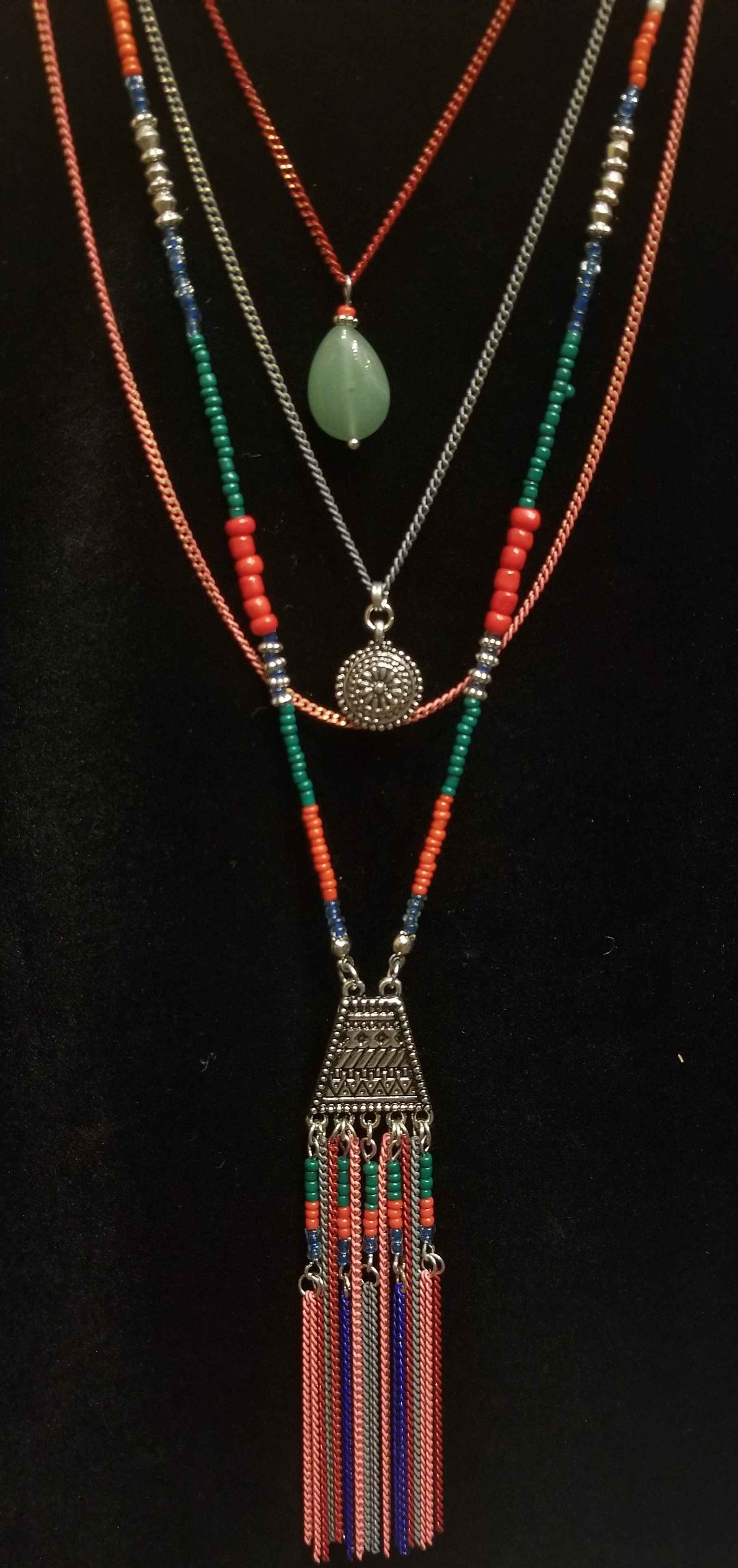 Necklace - Mixed Bead... by  Gallery Pieces - Masterpiece Online