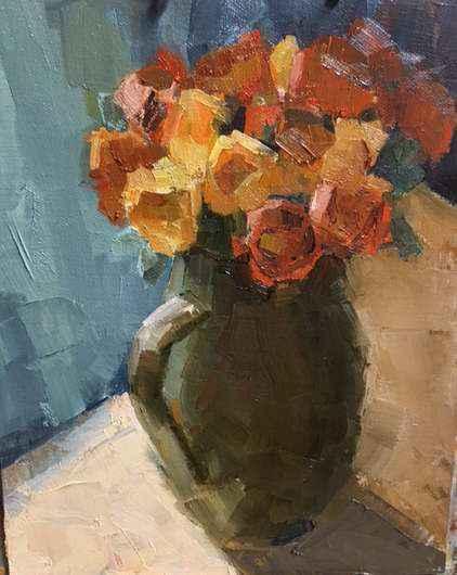 Orange Bouquet by  Clare Stratton - Masterpiece Online