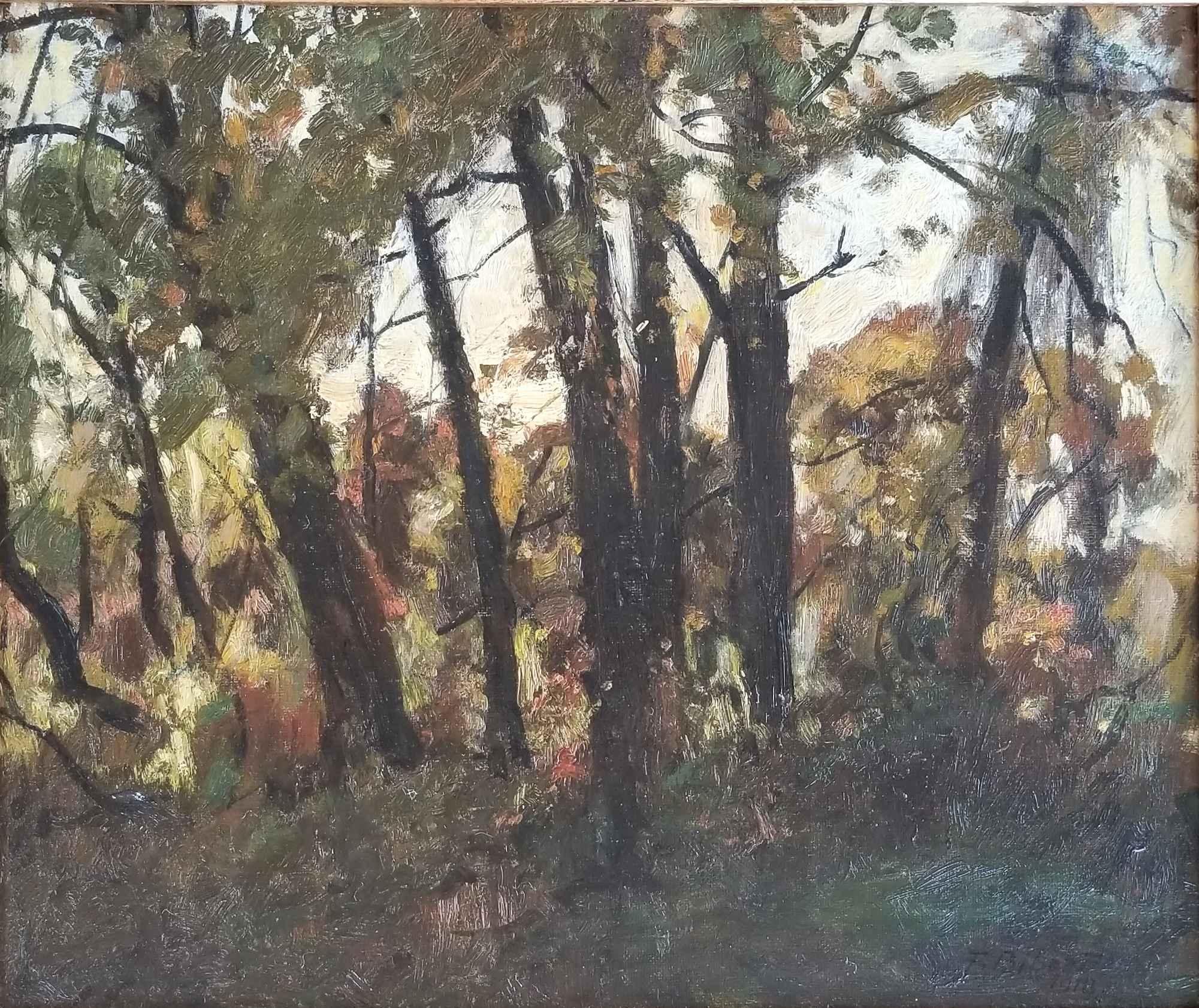 Untitled (Wooded Land... by Mr. Franz Biberstein - Masterpiece Online