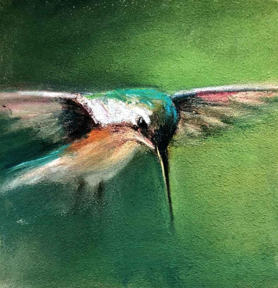 Attentive Hummingbird by  Amanda Houston - Masterpiece Online