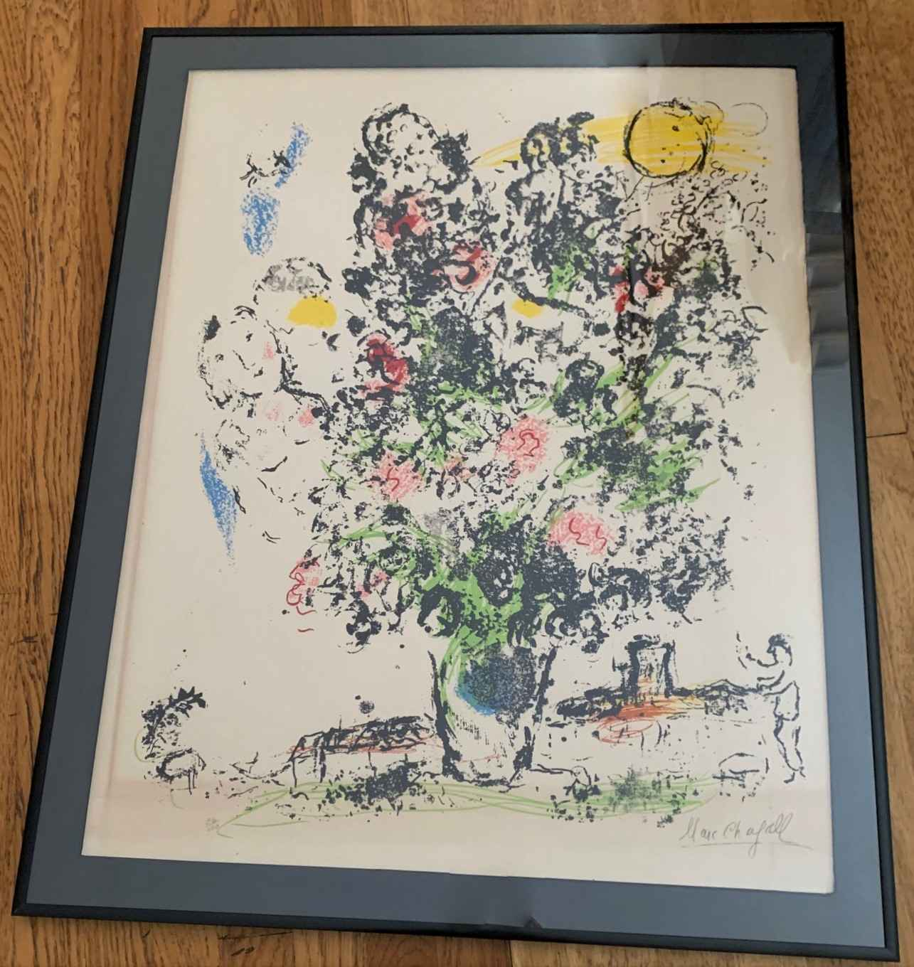 """""""Le Bouquet Clair"""" (T... by  Marc Chagall - Masterpiece Online"""