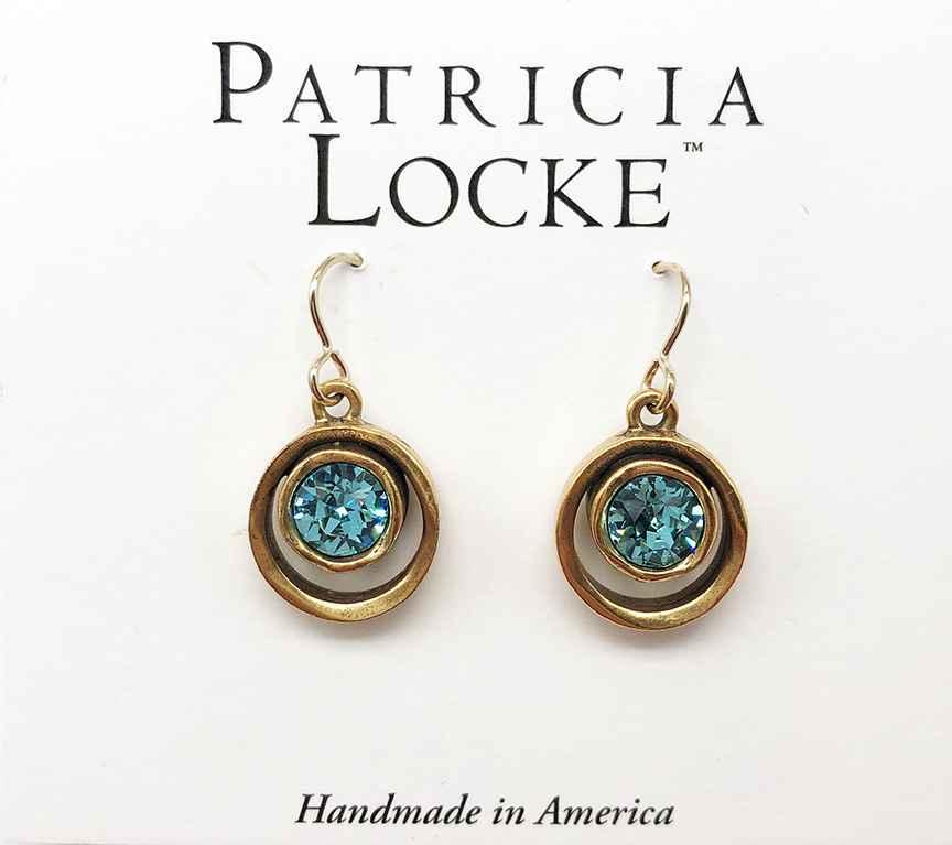 Skeeball Earrings in Gold, Light Turquoise