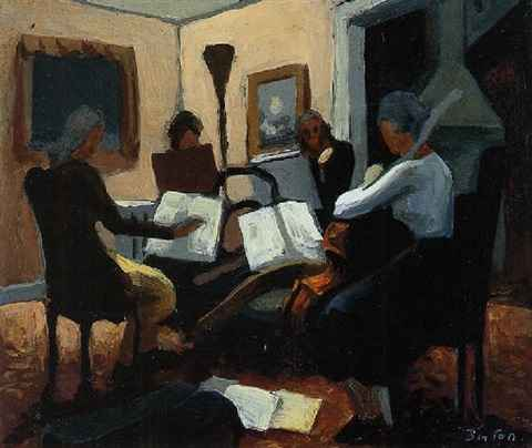 The Quartet by  Thomas Hart Benton - Masterpiece Online