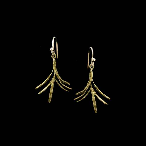 Petite Herb Rosemary Wire Earrings