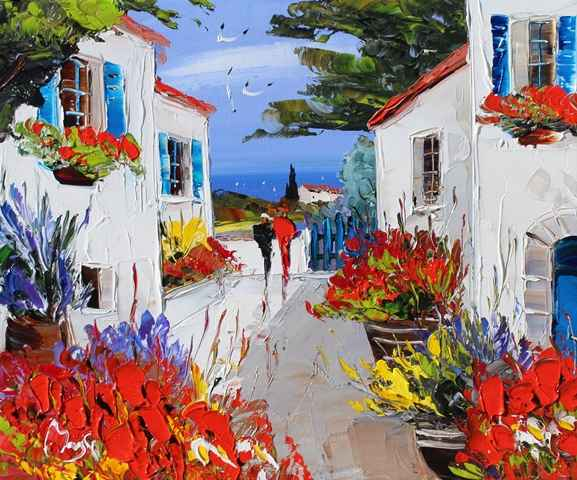Late Afternoon Walk by  Louis  Magre - Masterpiece Online