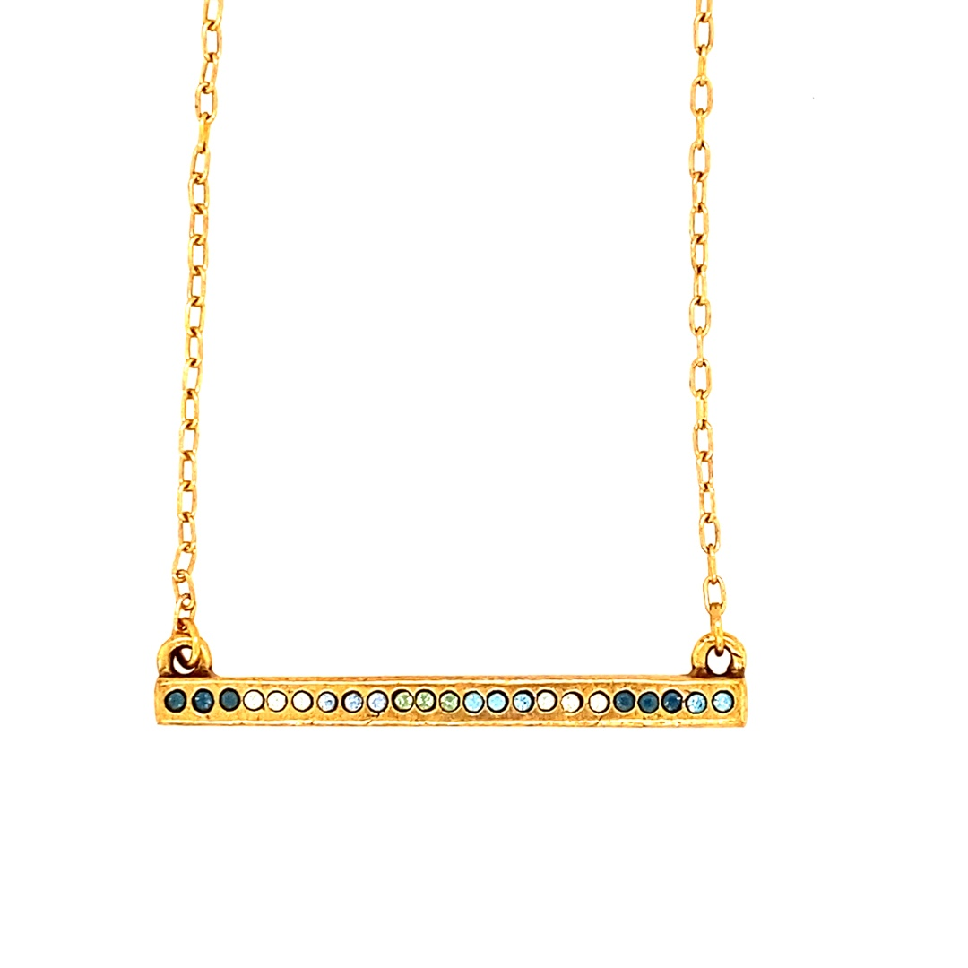Axis Necklace in Gold, Zephyr