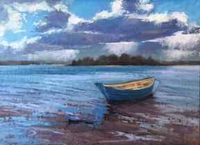 Solitude, Lagoon Beach by  Sharon McCann Daly - Masterpiece Online