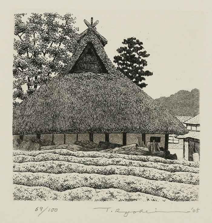 House in Tea Field by  Ryohei Tanaka - Masterpiece Online