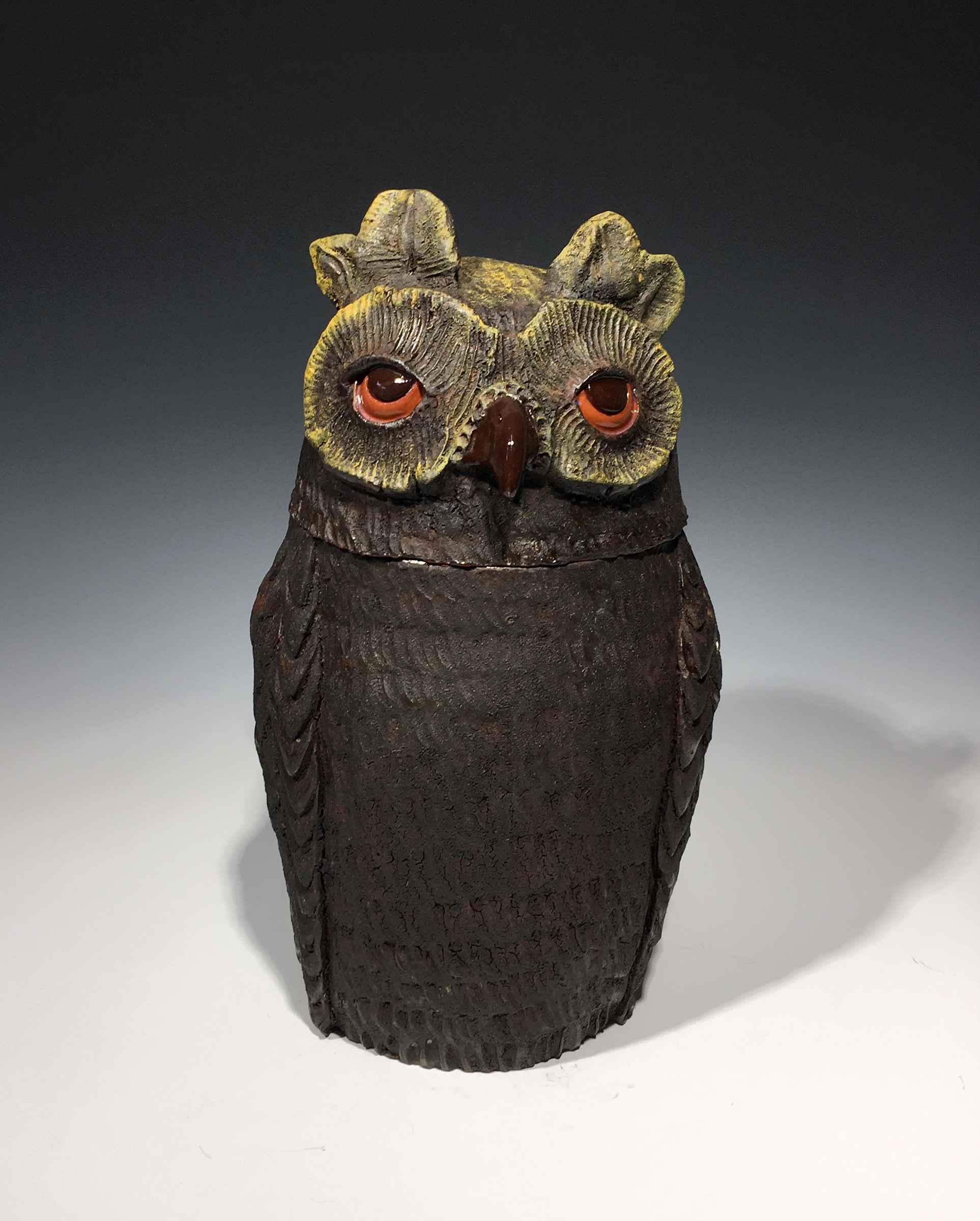 Large Owl Jar by  Brian Horsch - Masterpiece Online