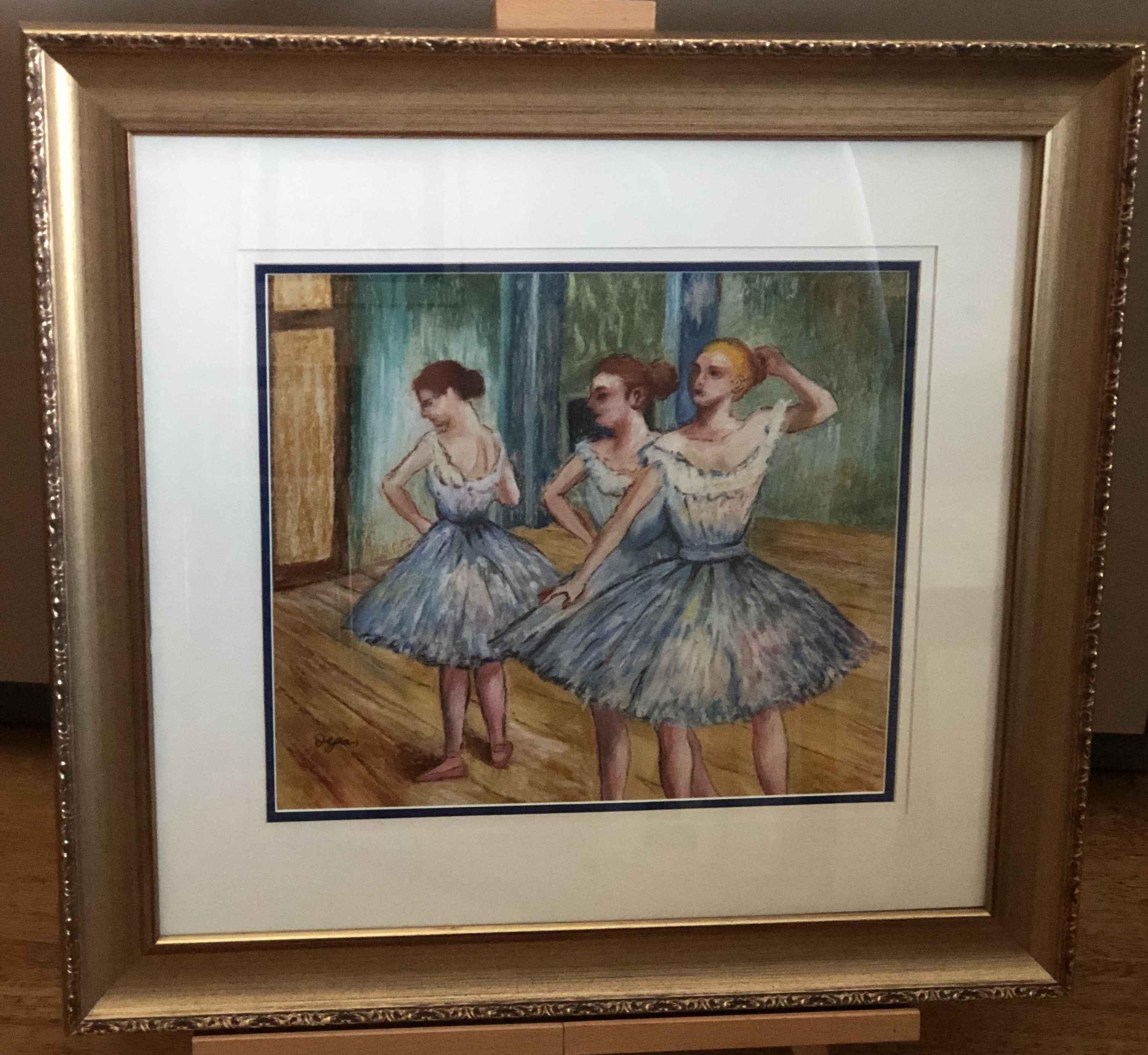 Ballet Dancers-Pastel... by  Edgar Degas - Masterpiece Online