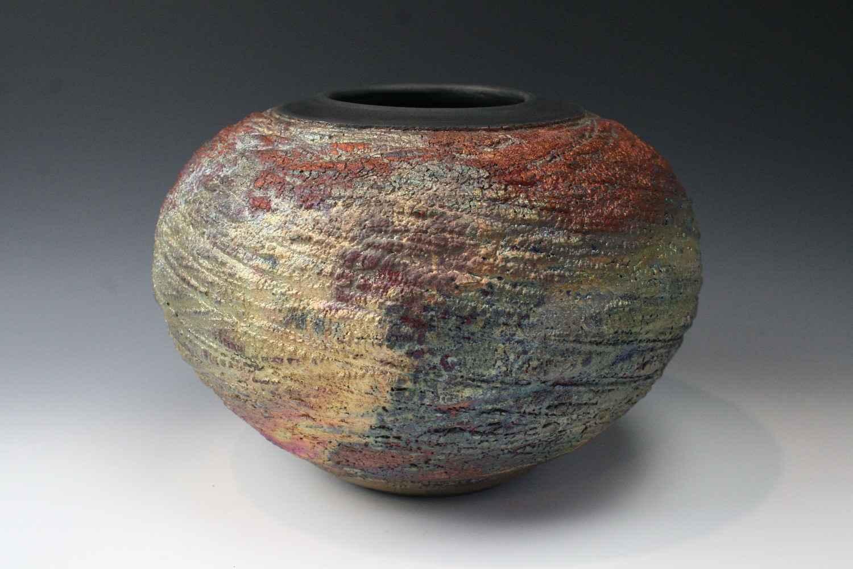 Raku 3647 by  Penny Berglund - Masterpiece Online
