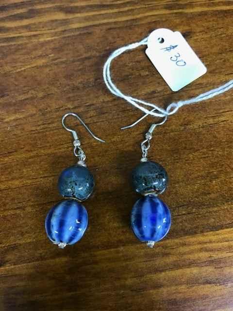 Ceramic Bead Earrings by Mrs Larissa Hale - Masterpiece Online