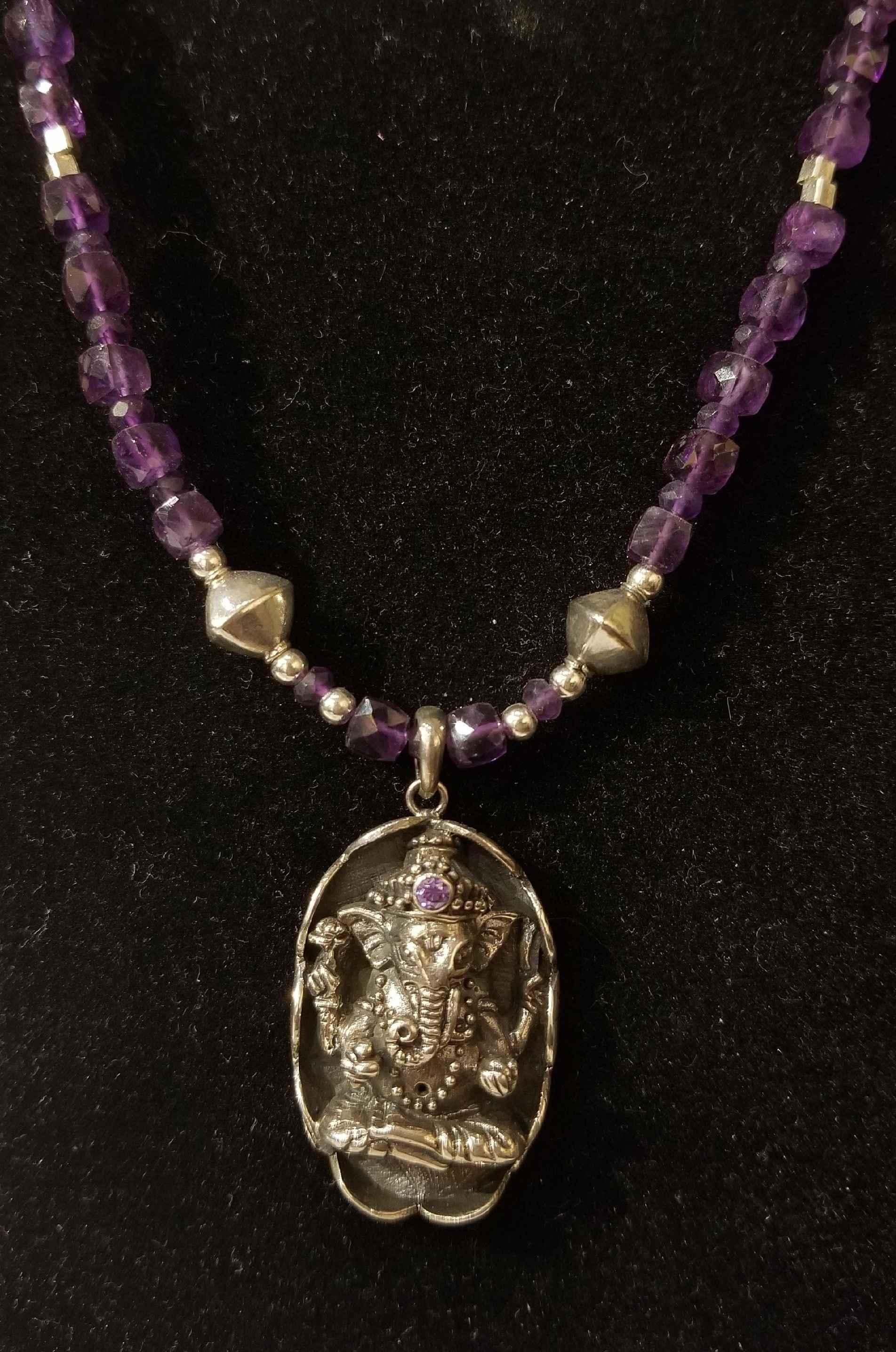 Ganesha w/Amethyst by  Crystal Gypsy Designs - Masterpiece Online