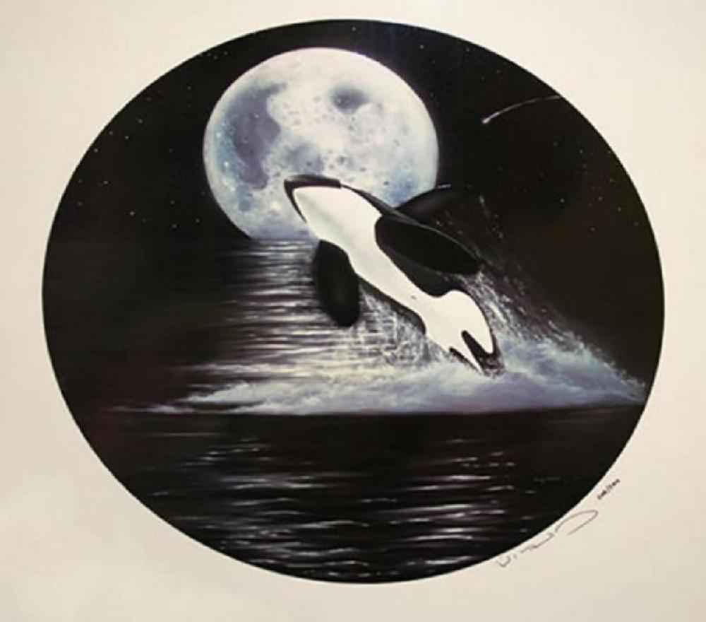 Orca Moon by  Robert Wyland - Masterpiece Online