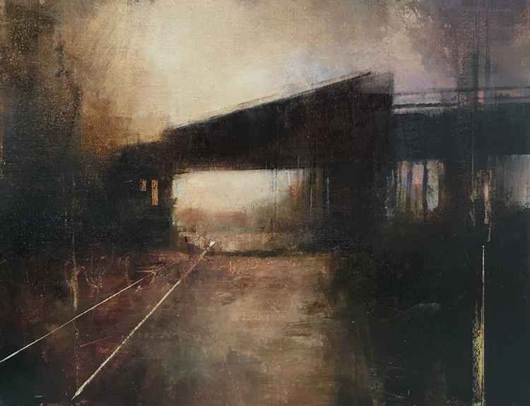 January Bridge (Horiz... by  Charlie Hunter - Masterpiece Online