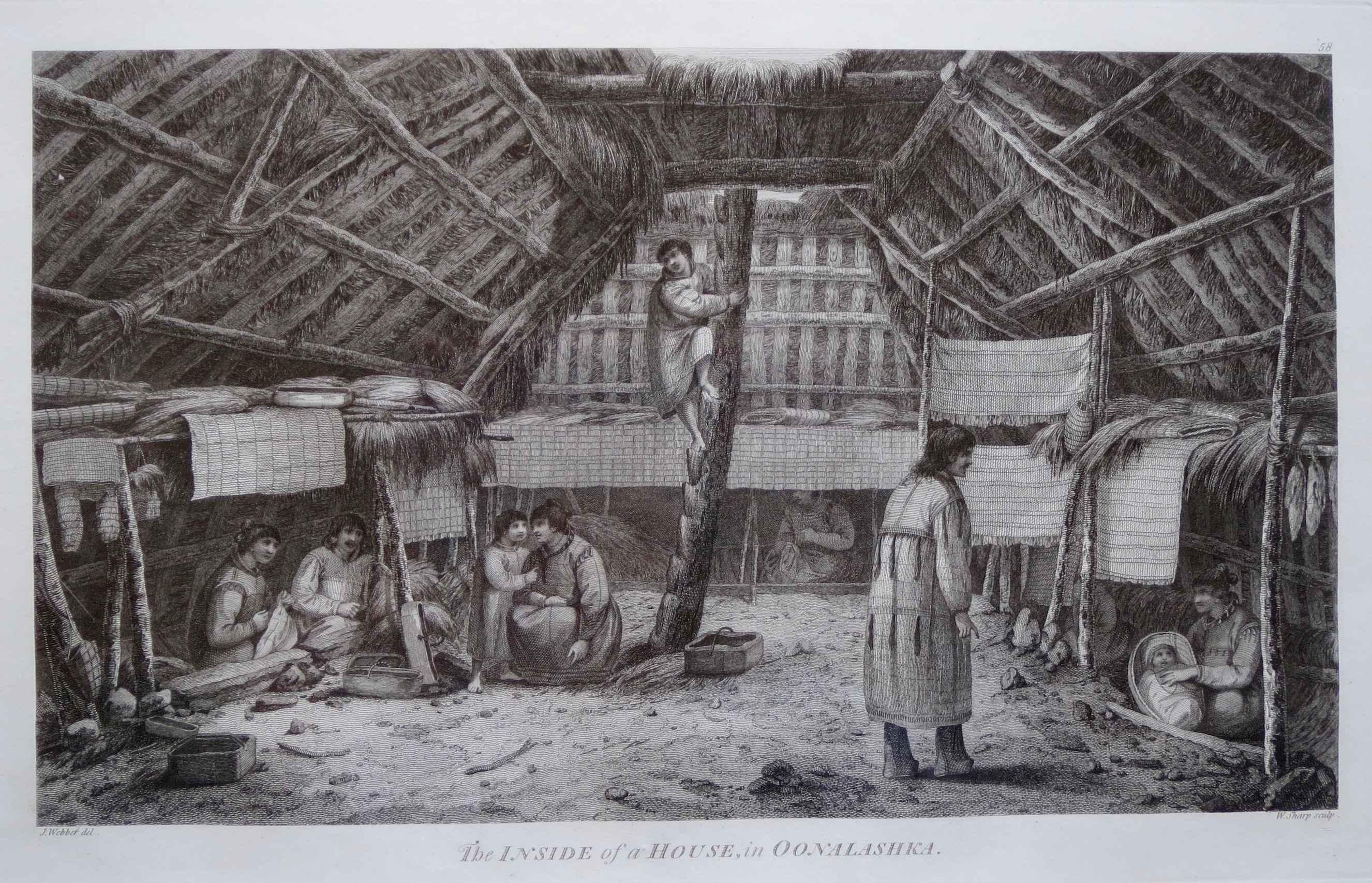 Inside of a House in ... by  John Webber (1752-1793) - Masterpiece Online